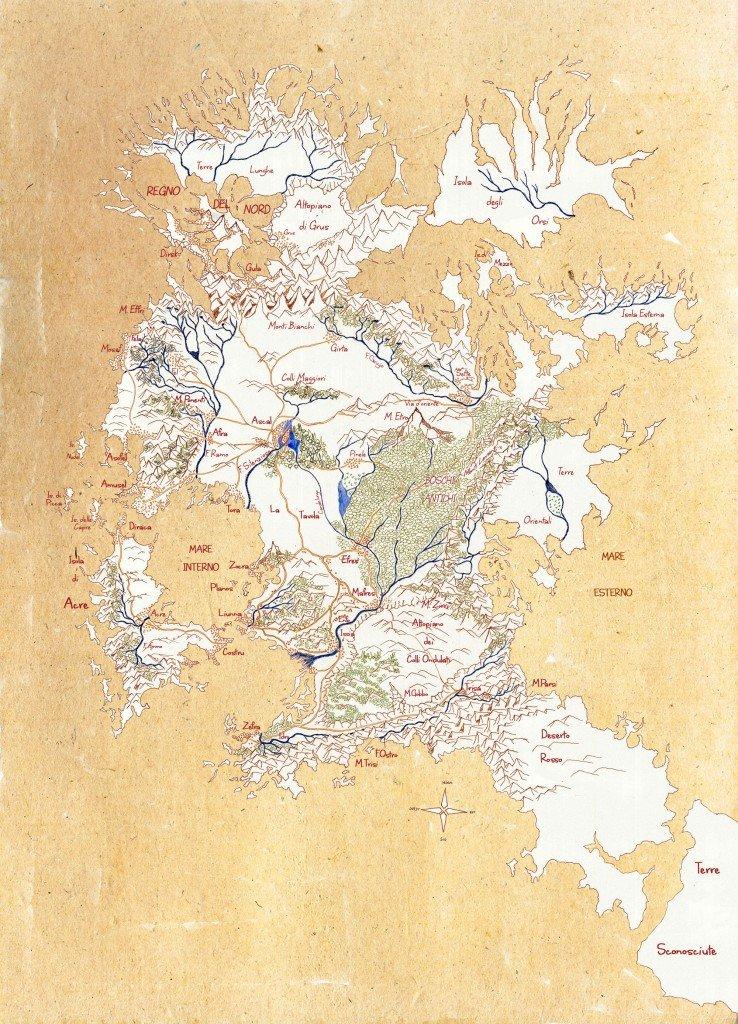 Confini di Trisa mappa delle terre di prama