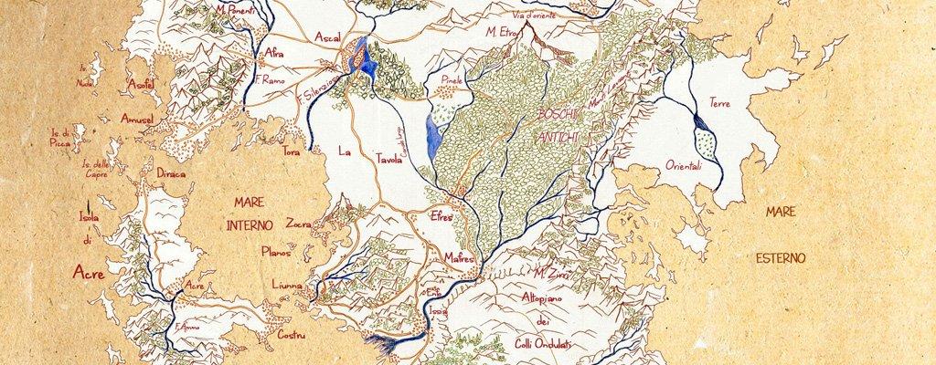 Confini di Trisa mappa della Terra di Prama