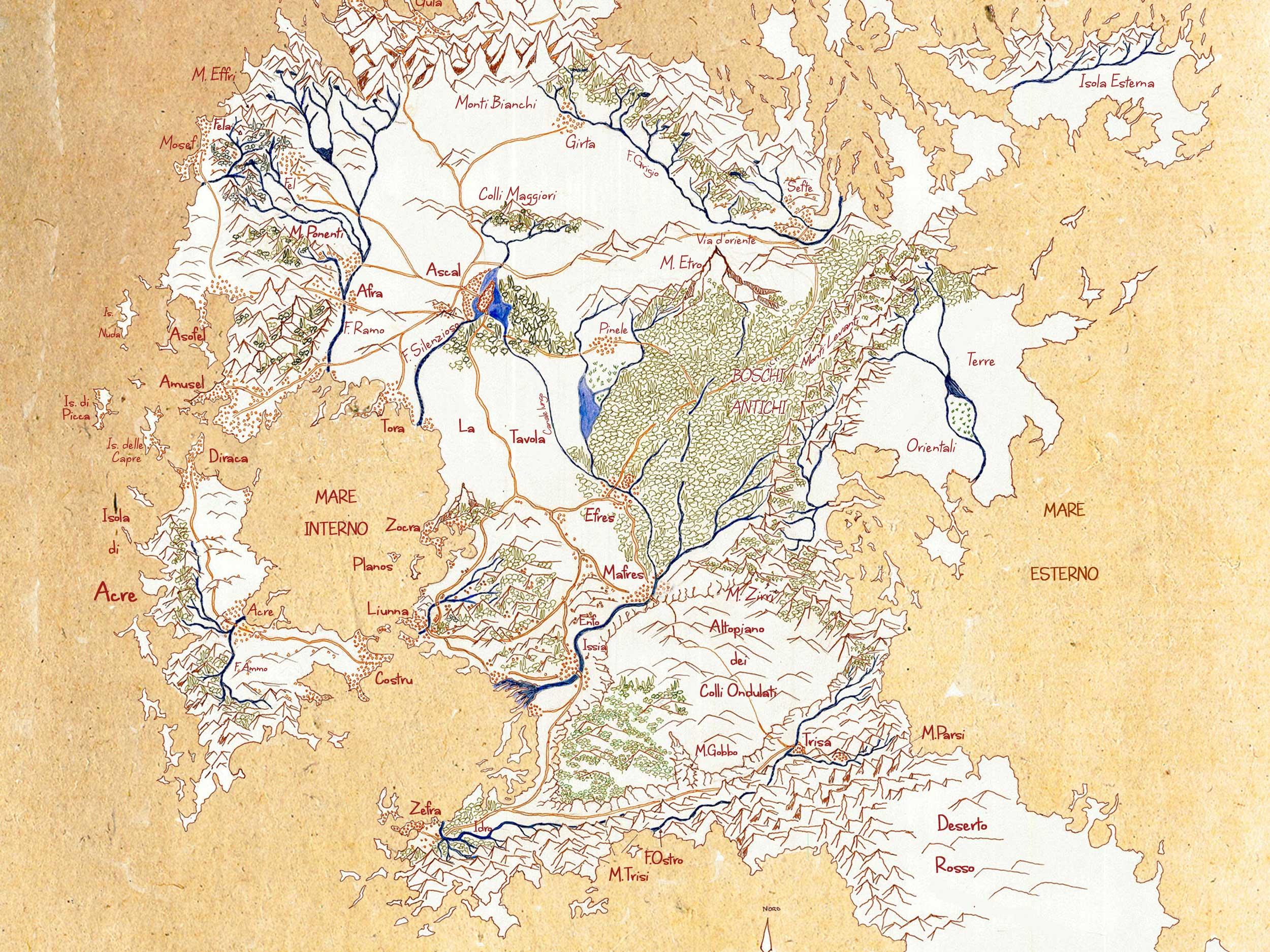 Mappa Confini di trisa