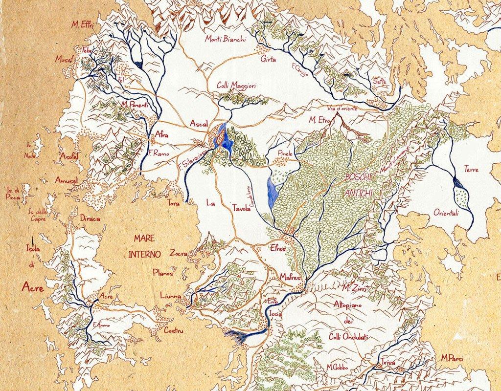 Mappa Terra di Prama, I Confini di Trisa